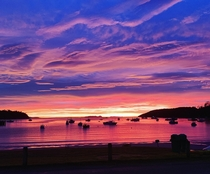 The sunrise at Stewart Island New Zealand a few days ago