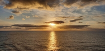 The sunrise from my balcony aboard a south pacific cruise