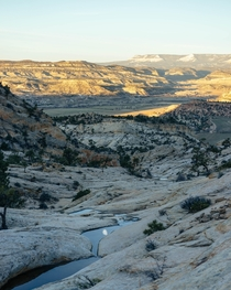 The sunrise view from my campsite Just outside of Escalante Utah