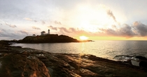 The sunrises at Nubble Lighthouse in Maine are incredible  OC