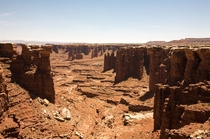 The surreal desolation below the White Rim Canyonlands UT