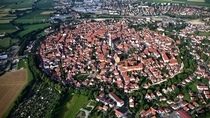 The Swabian village of Nordlingen in Bavaria Germany