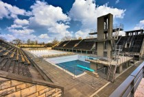 The Swimming Venue of  Summer Olympics in Berlin -