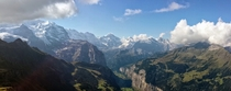 The Swiss Alps as seen from Mnnlichen
