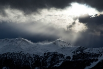 The Swiss Alps from Verbier Switzerland