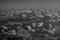 The Swiss Alps taken from an airplane last week