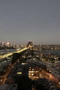 The Sydney Harbour Bridge down there OC