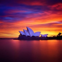 The Sydney Opera House by Jrn Utzon at sunset x