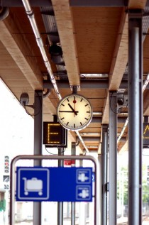 The symbol of Swiss timeliness - Station clock in Bern Switzerland