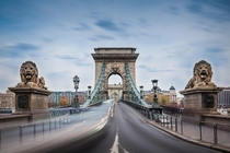 The Szechenyi Chain Bridge in Budapest by Zoltan Duray