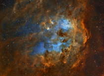 The Tadpole nebula IC  a dusty emission nebula located approximately  light-years from earth Image credit Matt Sporre
