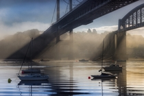 The Tamar Estuary and Saltash bridges