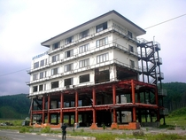 The Taro Tourism Hotel after the tsunami - Taro Iwate Japan
