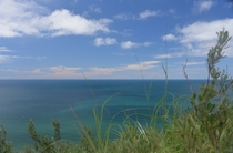 The teal-blue waters of Lake Michigan