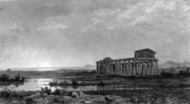 The temple of Ceres at Paestum Italy