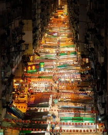 The Temple Street Night Market in Hong Kong