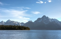 The Tetons by Jackson Lake Wyoming