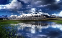 The thawing in Castelluccio di Norcia Sibillini Mountains National Park Umbria Italy  Photo by Francesco Russo
