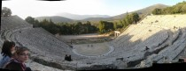 The theatre of Epidaurus Peloponnese Greece  years old amp an incredible acoustic until today