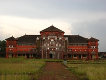 The Thibaw Palace in Ratnagiri Maharashtra India Built by the British Government to keep the former king of Burma Thibaw Min in house arrest It was built in the year