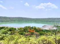 The third biggest meteor Crater in the world Lonar Maharashtra India Also known as Lonar lake