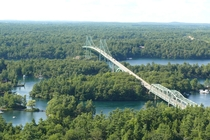 The Thousand Islands Bridge over the Saint Lawrence River
