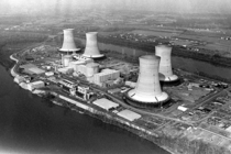 The Three Mile Island Nuclear Generating Station in Dauphin County Pennsylvania near Harrisburg USA