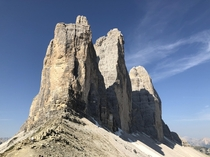 The Three Peaks in the Dolomites Italy
