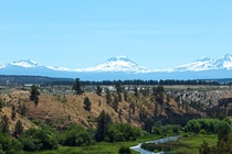 The Three Sisters and Broken Top On the Left Oregon