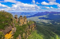 The Three Sisters Blue Mountains Australia  by Heshan de Mel