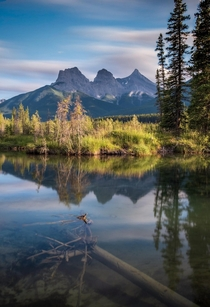 The three sisters in Canmore Alberta