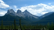 The Three Sisters near Canmore Alberta Canada