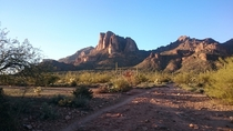 The Three Sisters Superstition Mountains AZ