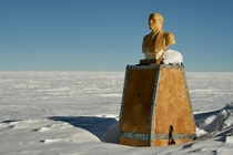 The top of a Russian base at the Pole Of Inaccessibility Antarctica