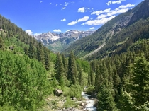 The top of Bear Creek Trail in Telluride Colorado
