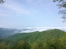 The Top of Windy Gap NC in the Appalachian Mountains