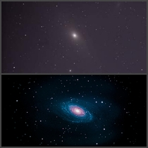 The top photo was my first attempt ever at astrophotography  months ago The bottom photo was last nights attempt
