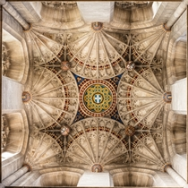 The Tower Ceiling inside Canterbury Cathedral England