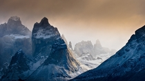 The towering peaks of Torres del Paine NP in Chilean Patagonia  photo by Gene Wahrlich