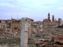 The town of Belchite was destroyed in the Spanish Civil war - and still remains this way abandoned
