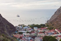 The Town of Jamestown St Helena in the Atlantic Ocean