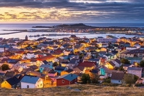 The town of Saint-Pierre in Saint-Pierre-et-Miquelon France It is just  km off the coast of Newfoundland Canada