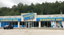 The township of Georgian Bluffs Ontario in Canada has one of the last preserved abandoned Blockbusters in the world