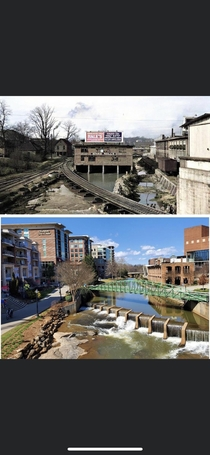 The transformation of Greenville SC from the mid th century to today Credit to the City of Greenville and Greenville News for this comparative shot