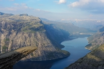 The Trolls Tongue Trolltunga Norway