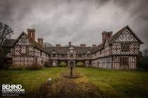The Tudor style cladding exterior of the abandoned Pitchford Hall in Shropshire Photo by Andy Kay  more in comments