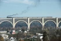 The Tunkhannock Viaduct also known as the Nicholson Bridge