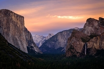 The Tunnel View at Yosemite National Park California USA