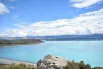 The turquoise waters of Lake Pukaki New Zealand x OC