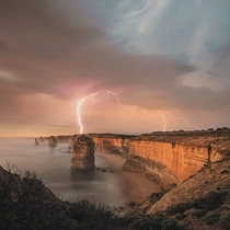 The twelve apostles with a little lighting